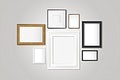 Various frame collection mockup vector