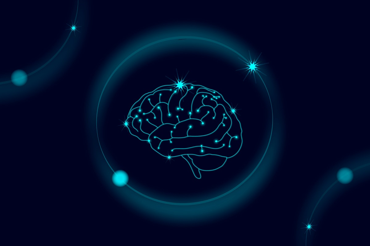 Artificial intelligence brain robotic system vector