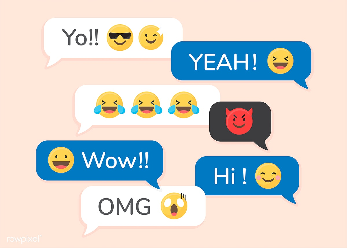 Emojis in messages | Free stock vector - 588504