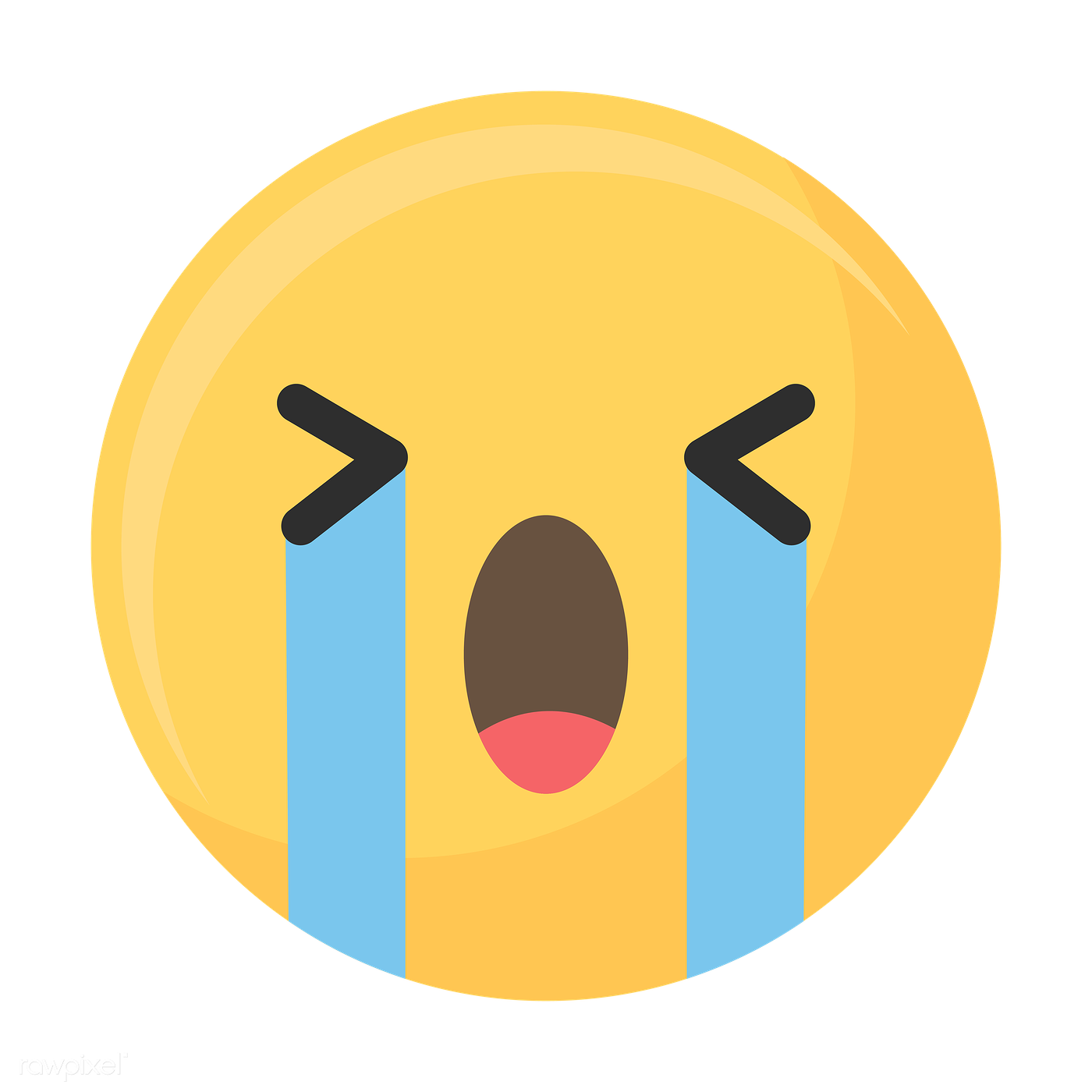 Sad face emoji icon | Royalty free stock transparent png ...