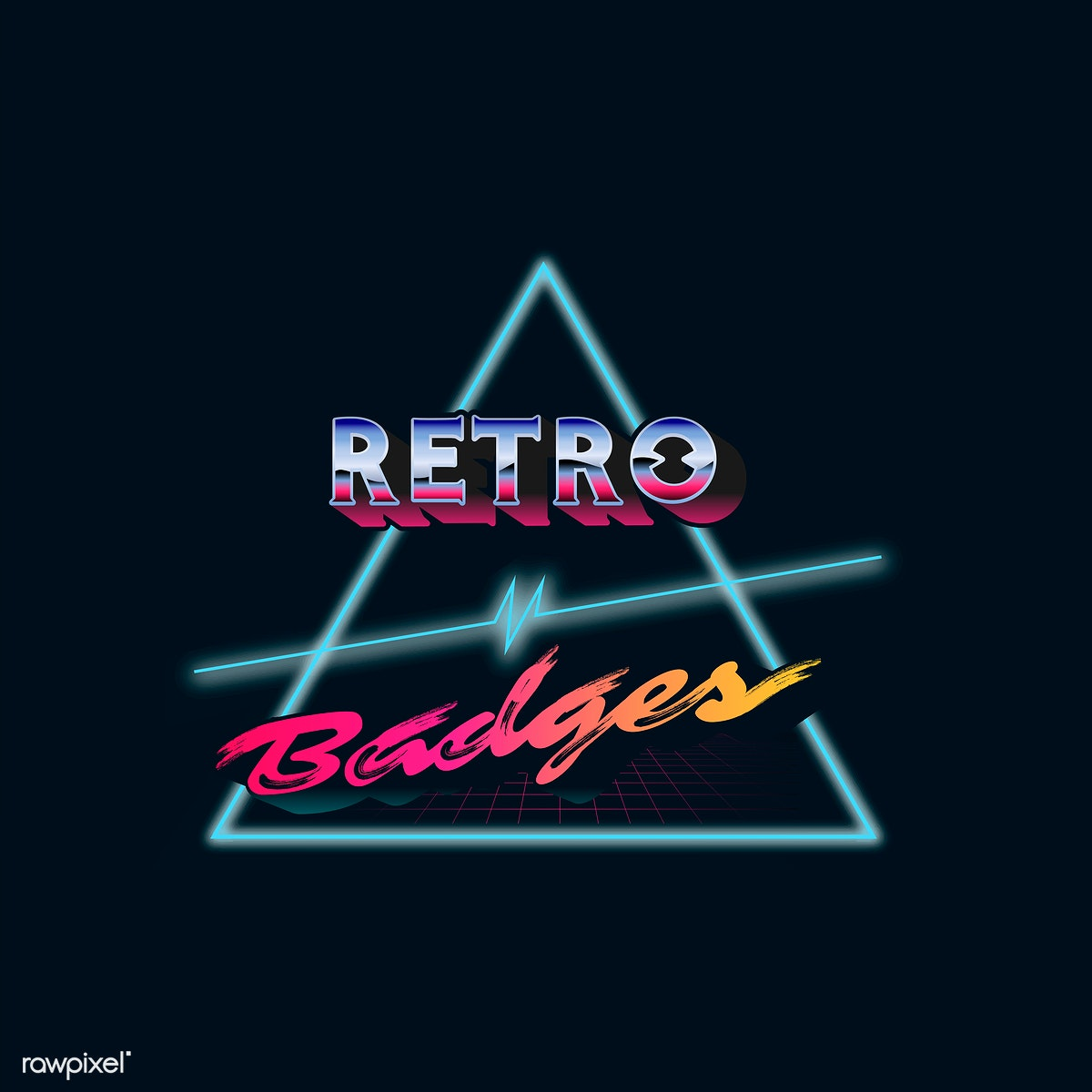 Retro neon badge | Free stock vector - 599480