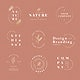 Floral brands and logo designs vector collection