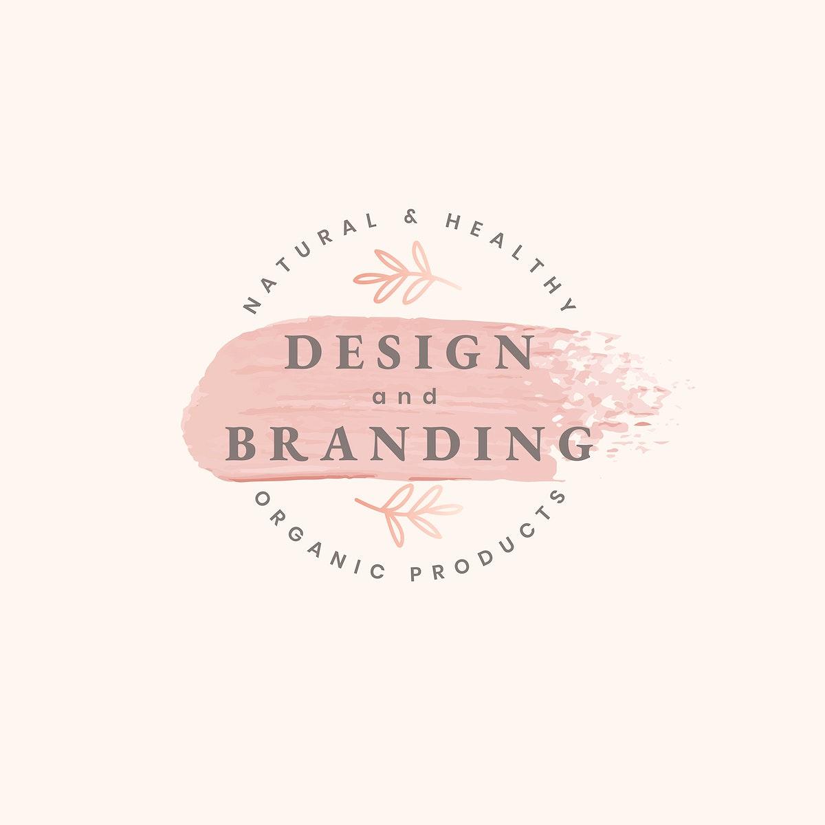 Design and branding minimal logo vector