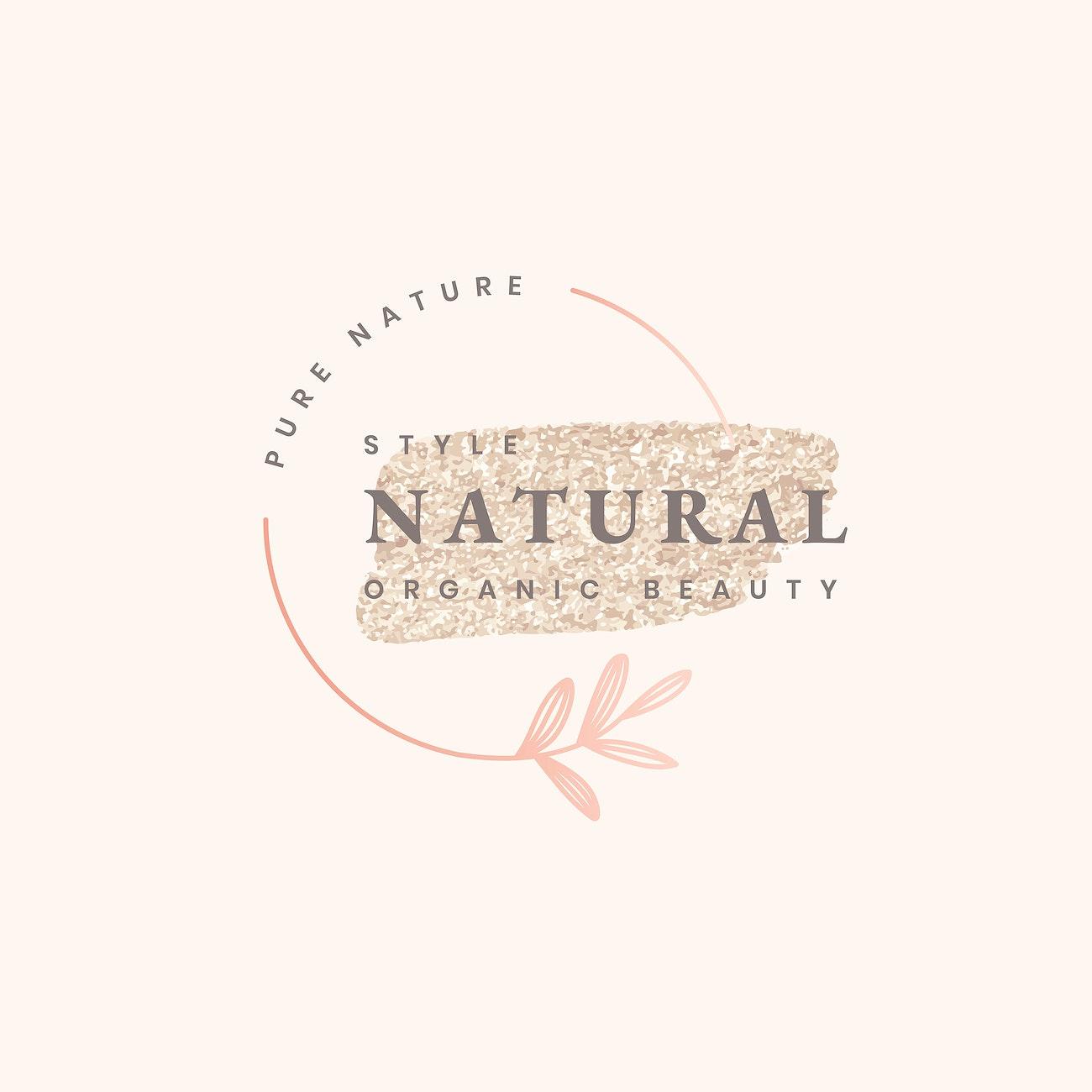 Natural Beauty Logo Design Free Vector 598784