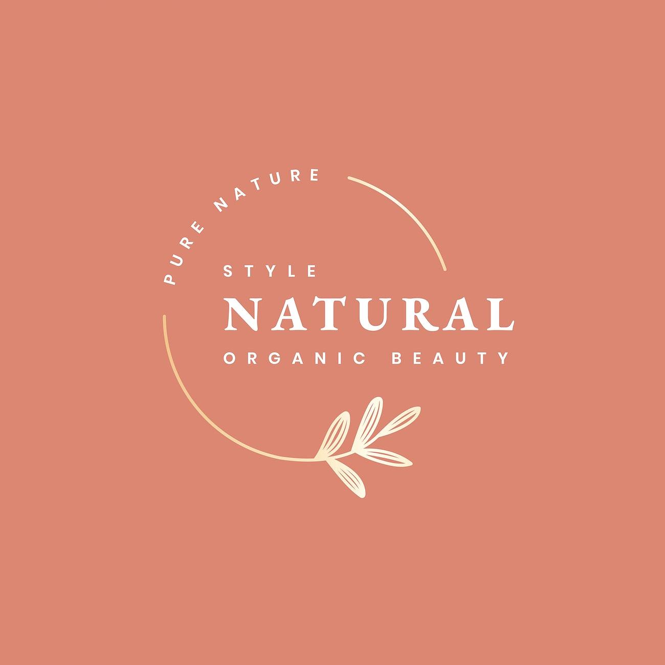 Natural Beauty Logo Design Free Vector 598739