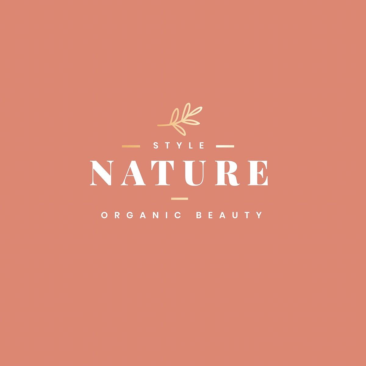 Organic beauty product logo design vector