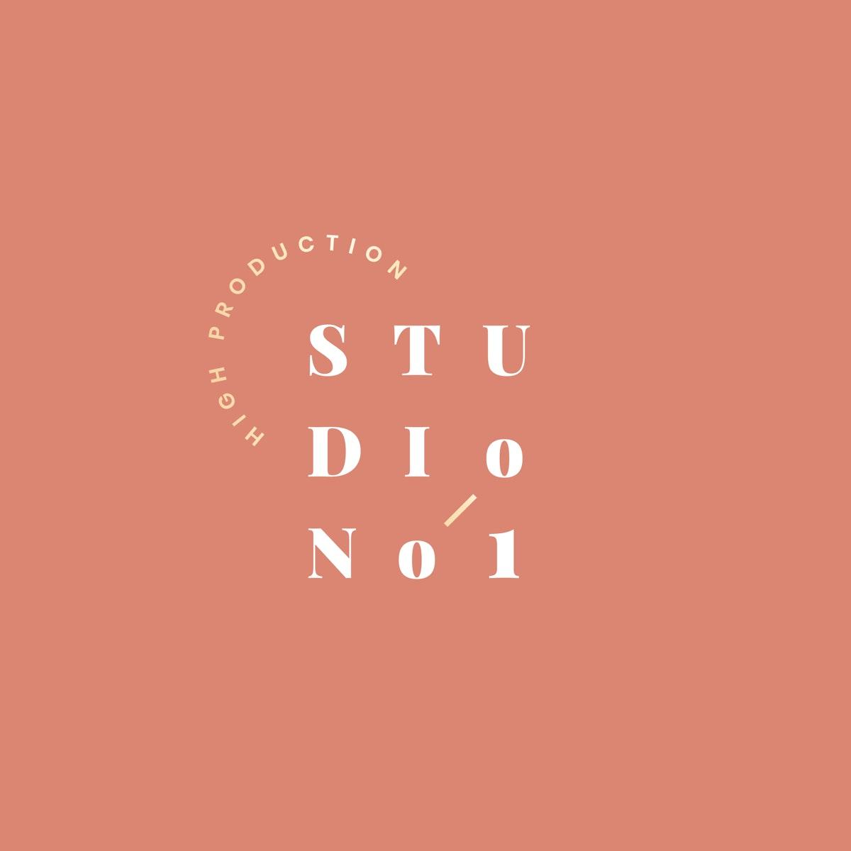 Studio No.1 brand design vector