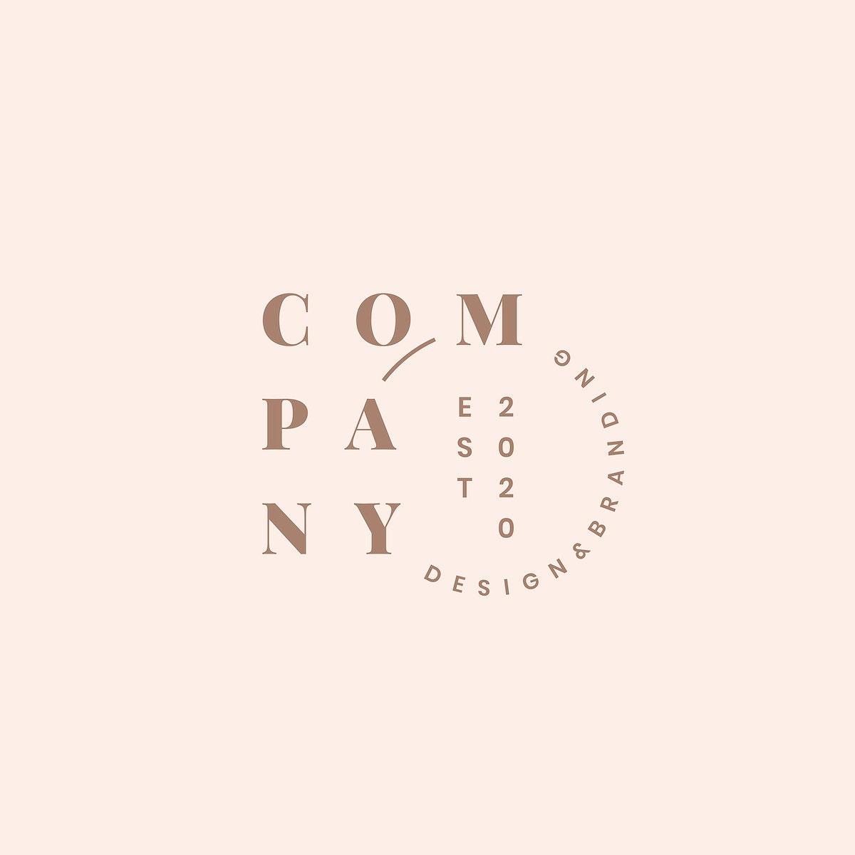 Company logo and branding design vector