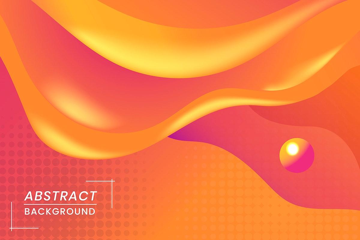 Orange abstract background design vector