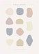 Simple pastel minimal badge collection vectors