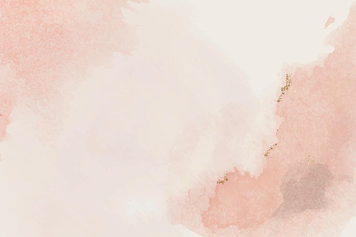 Pink smudge watercolor background design vector