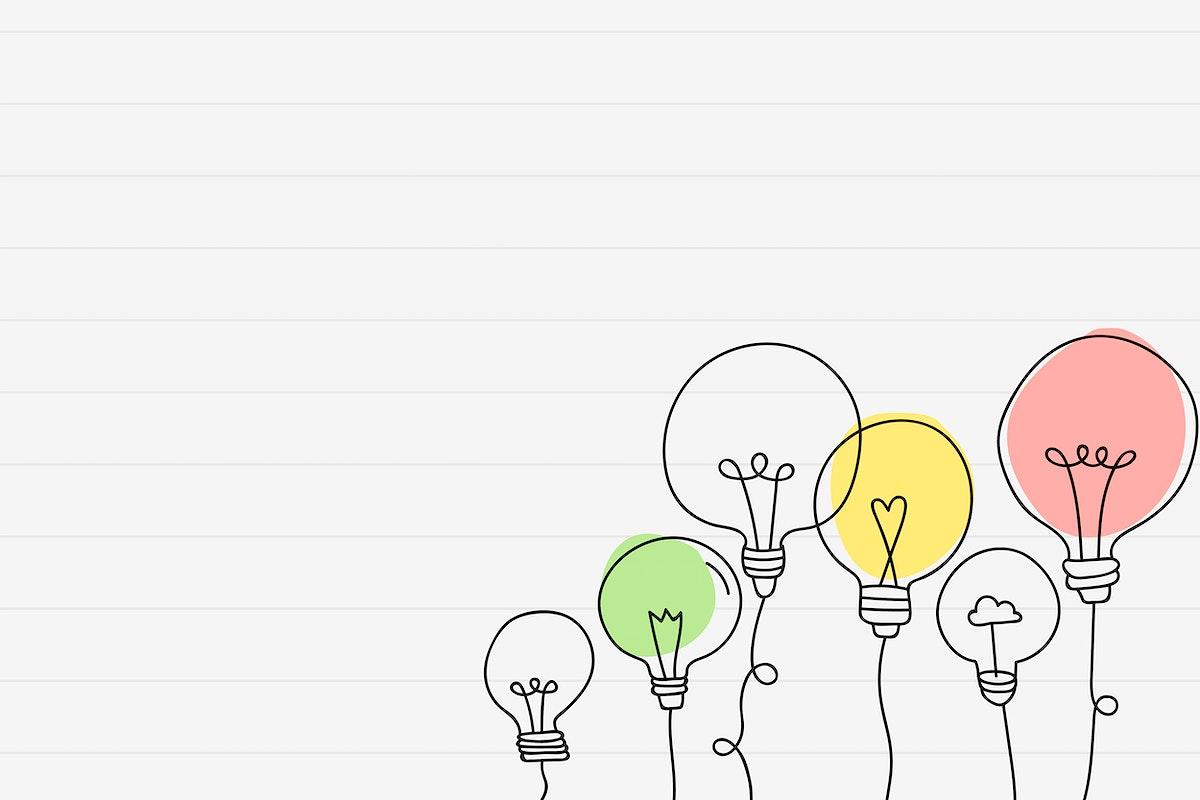 Creative light bulb doodle vector