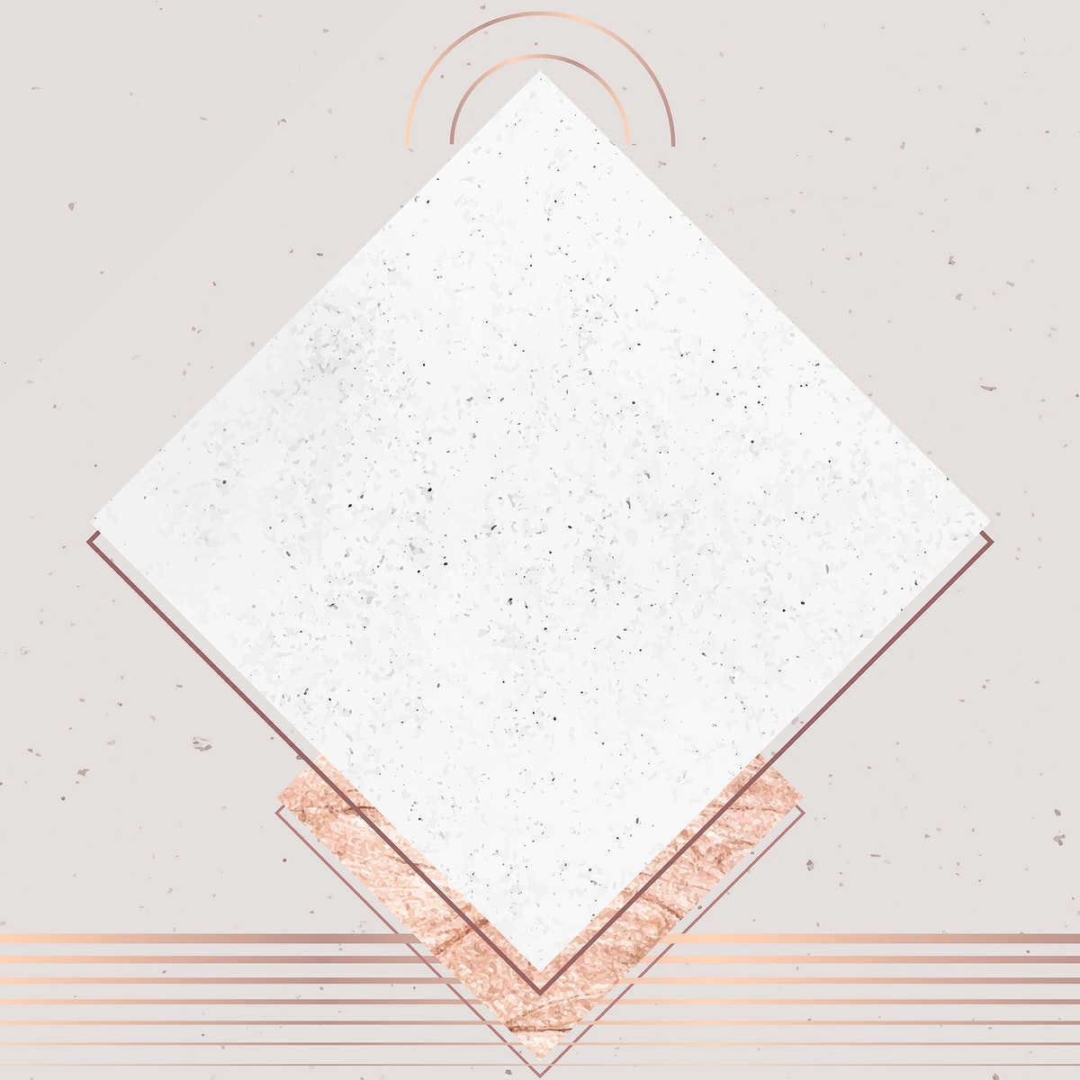 Rhombus gray frame on brownish gray background vector