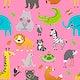 Cute illustration of wildlife animals