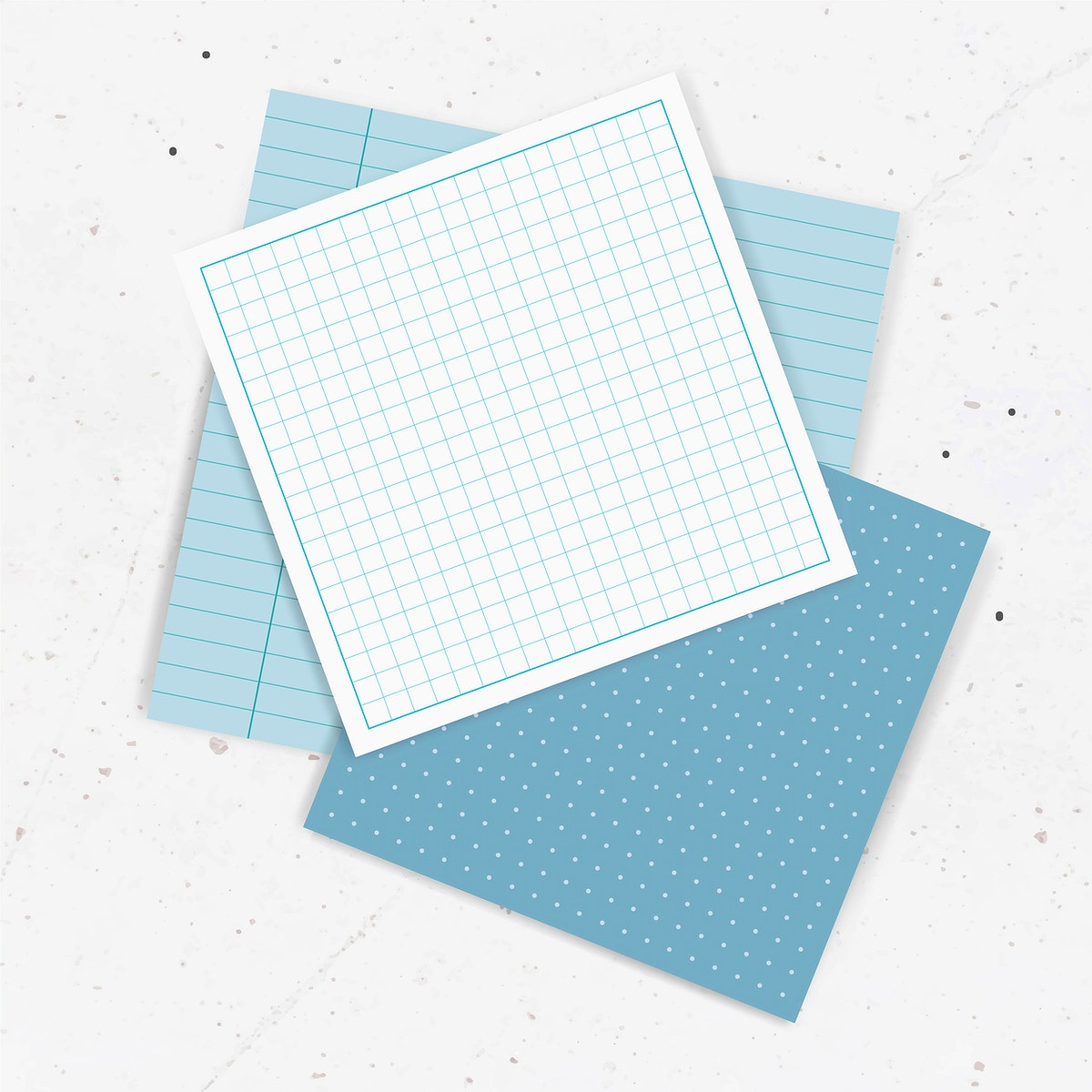 Blank blue notepaper collection vector