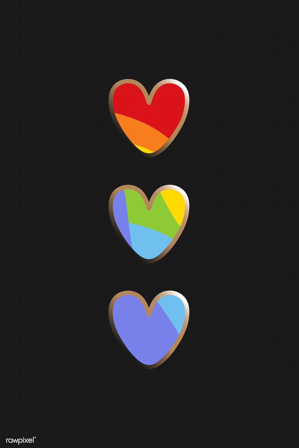 Download Premium Illustration Of Support Lgbtq Pride Heart Element Vector