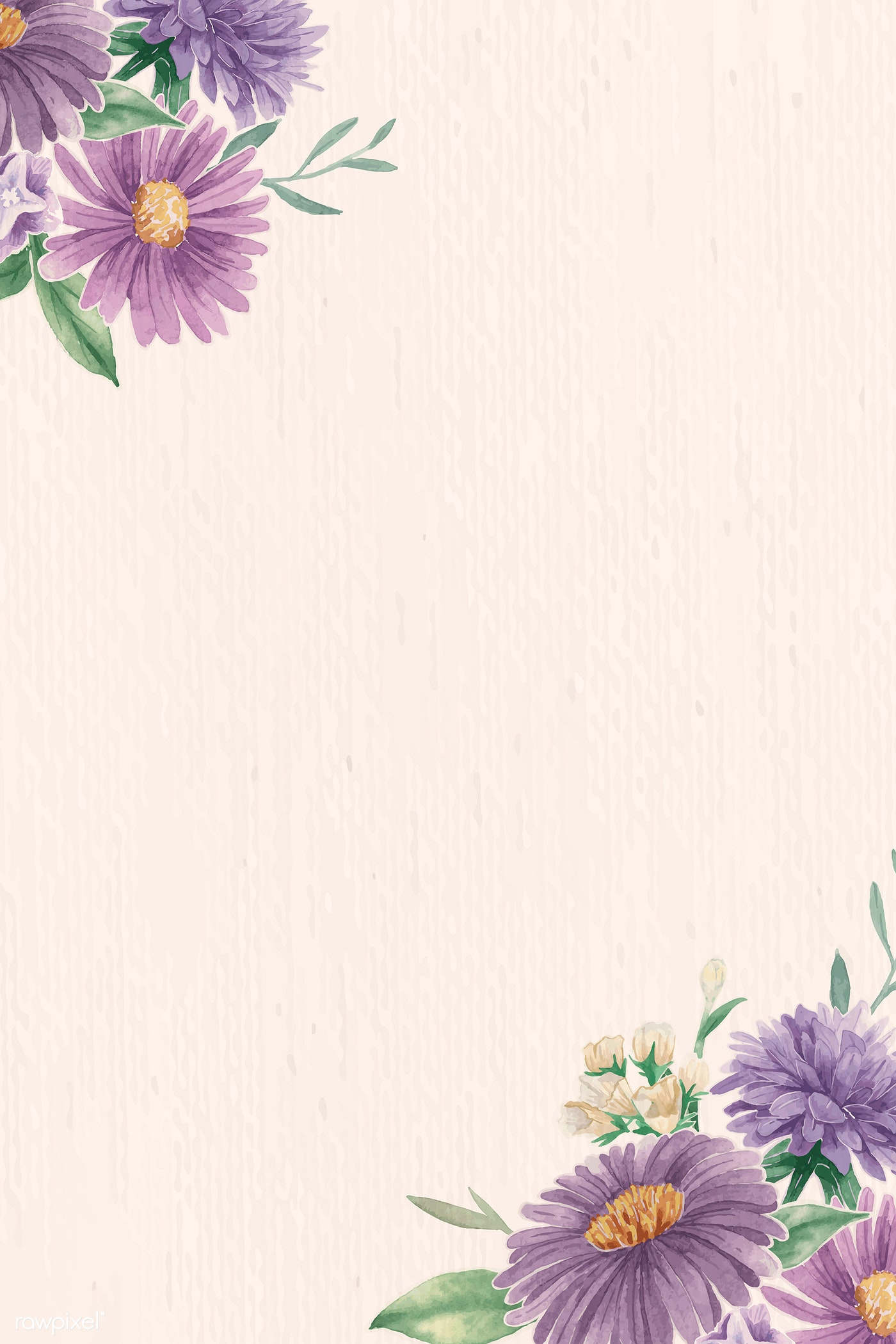 Purple Flower Border Royalty Free Vector 937042