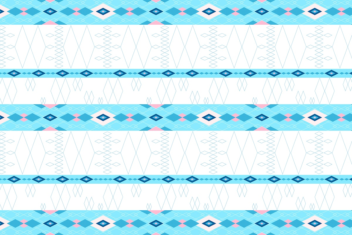 Bright blue and pink seamless geomtric patterned background vector