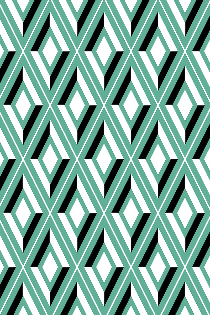 Bright green seamless geometric patterned background vector