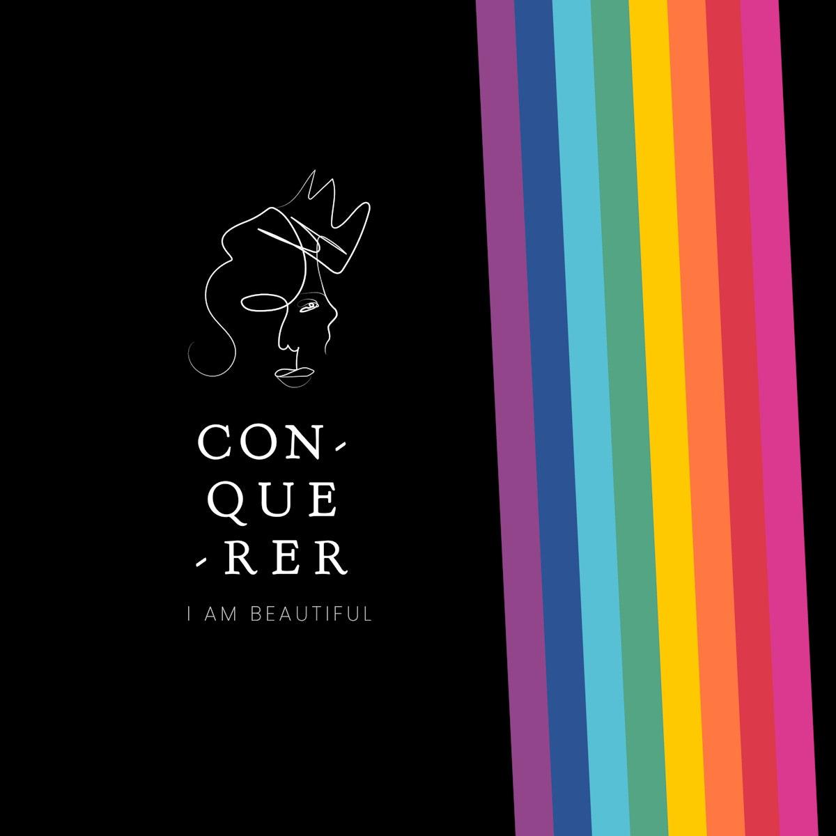 I am beautiful pride logo vector