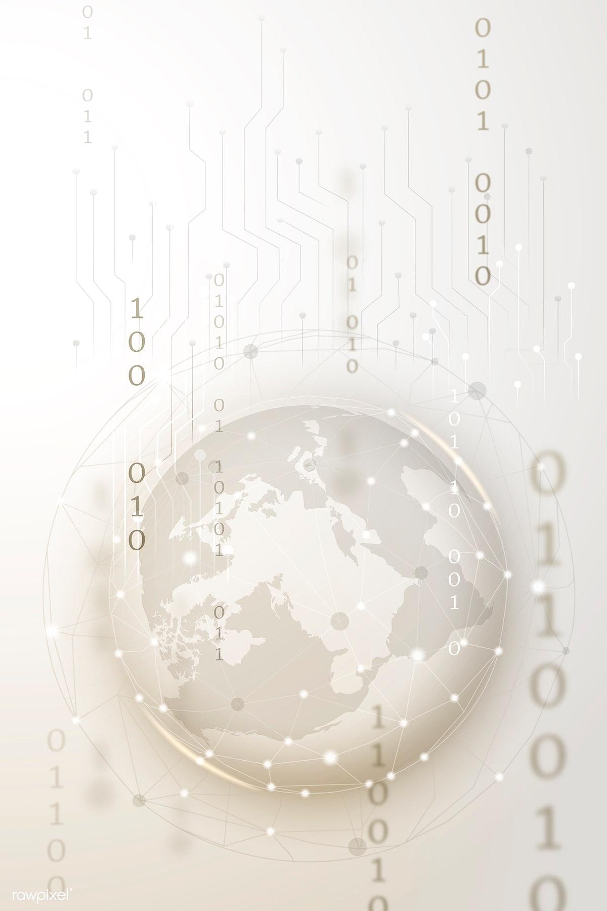 Download premium illustration of Futuristic global network technology