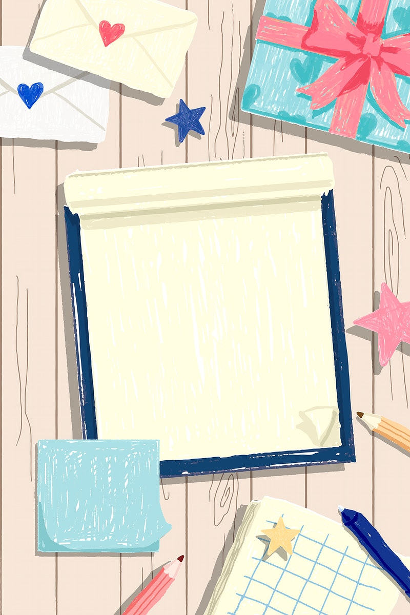 Blank notebook on a wooden background vector