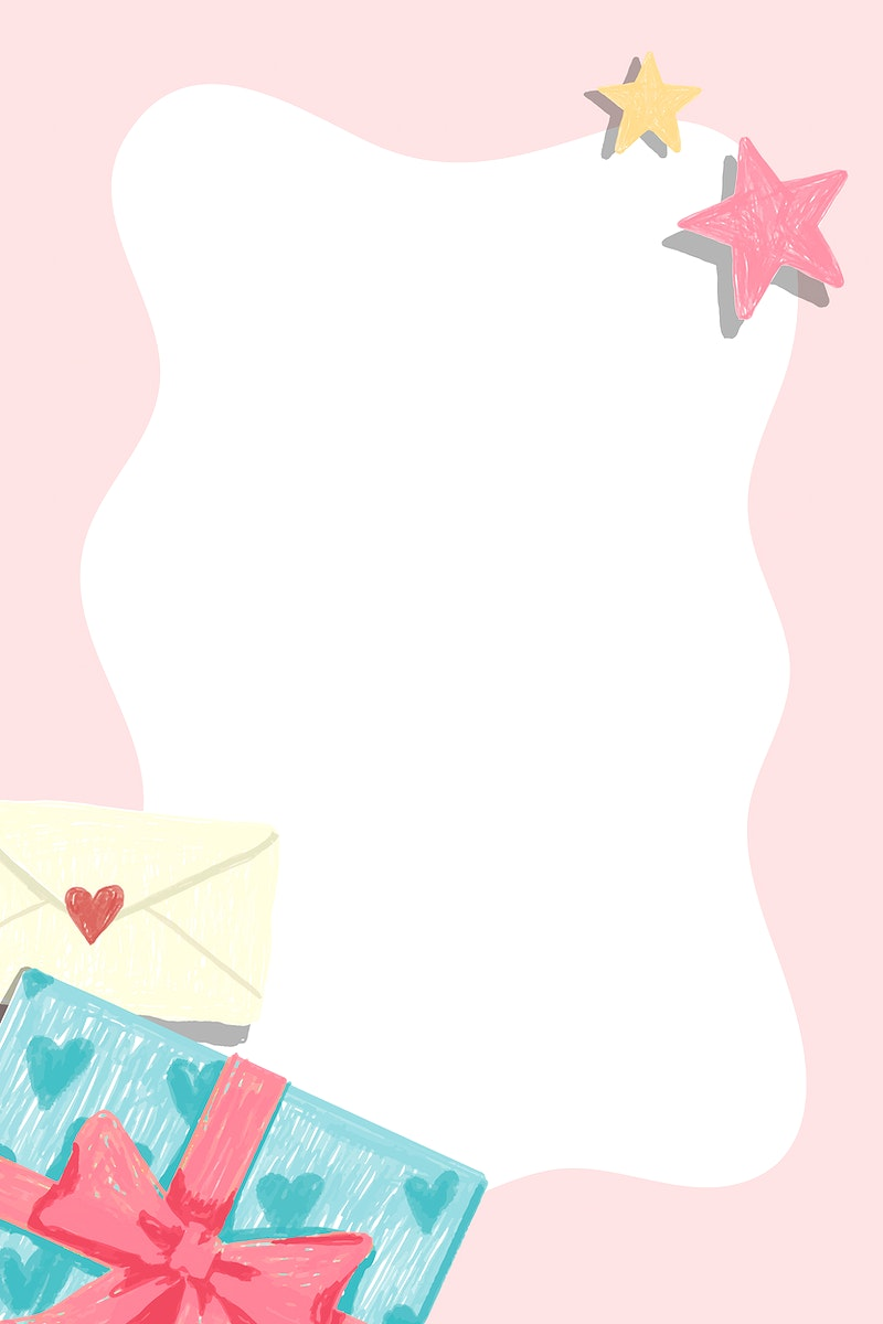 White frame on a pink background vector