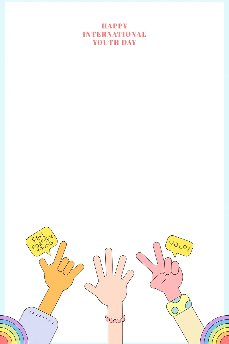 Happy International Youth Day background vector