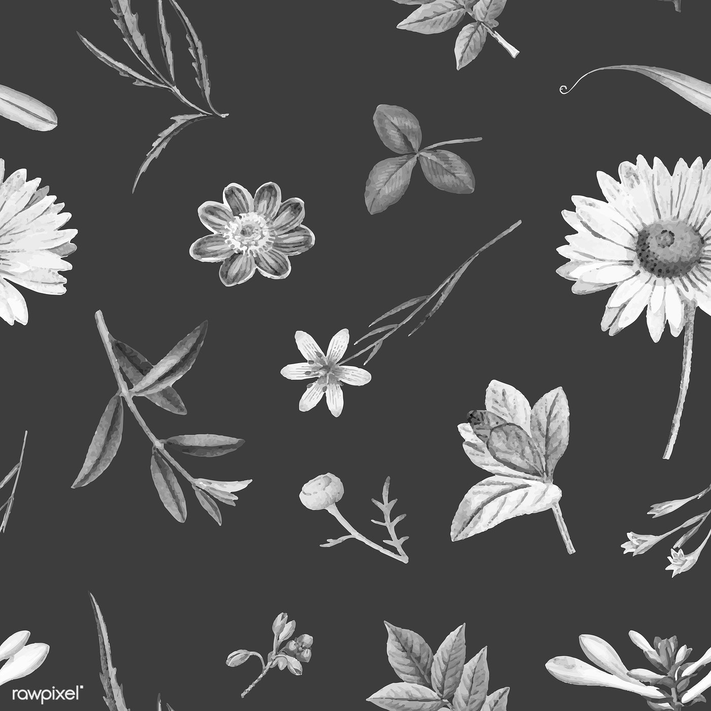Floral Background Illustration Royalty Free Vector 1201085