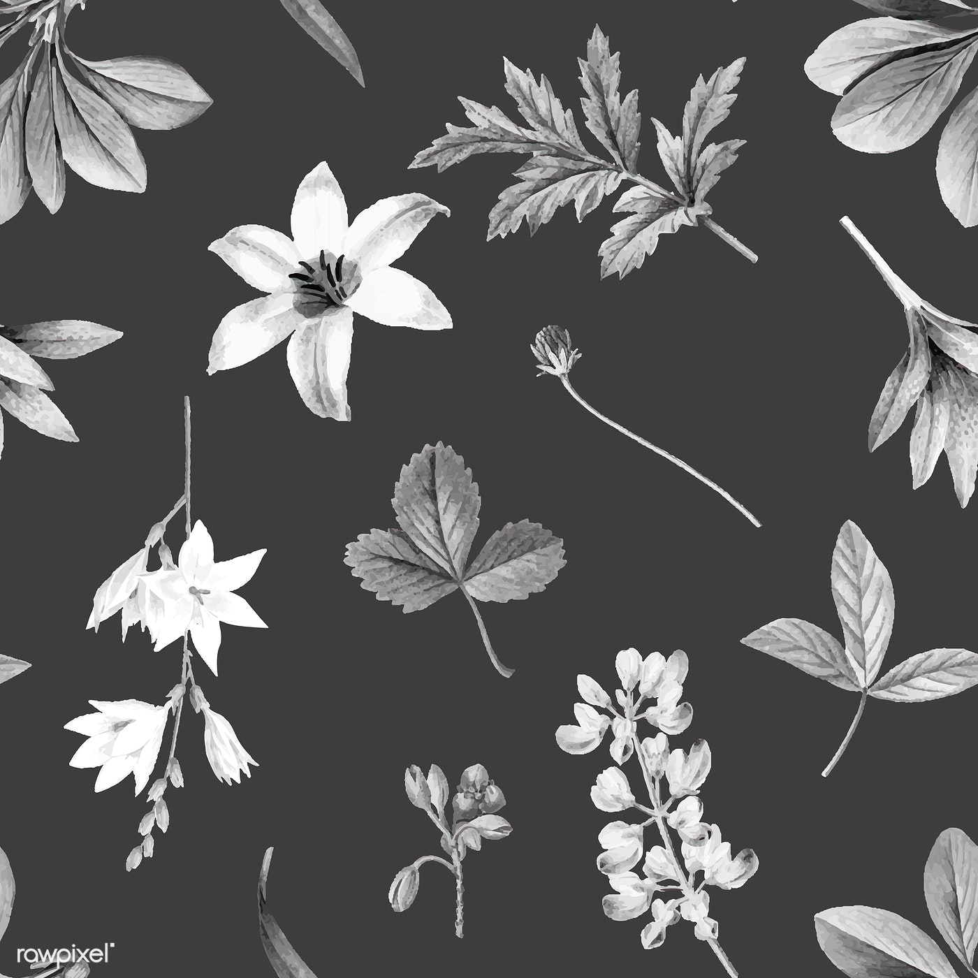 Floral Background Illustration Royalty Free Vector 1201127