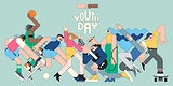 Youth day celebration mint green background template vector