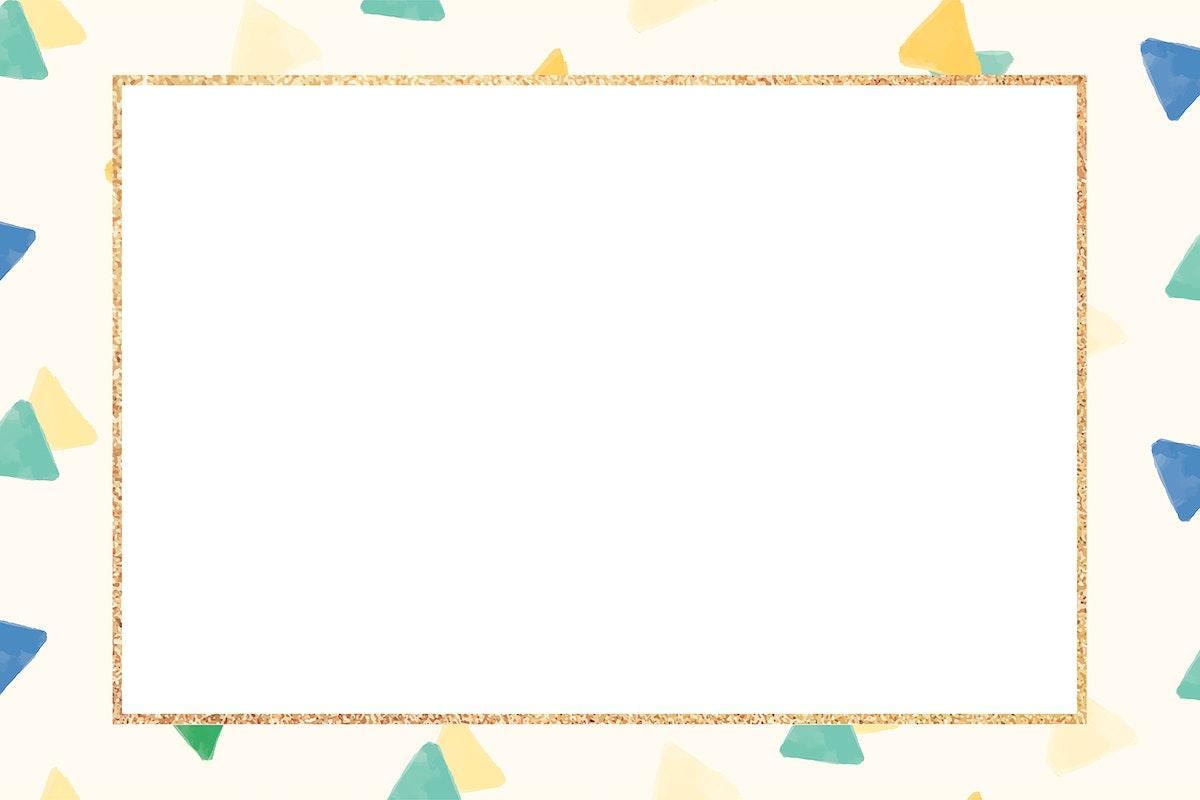Blank golden frame design seamless pattern  vector