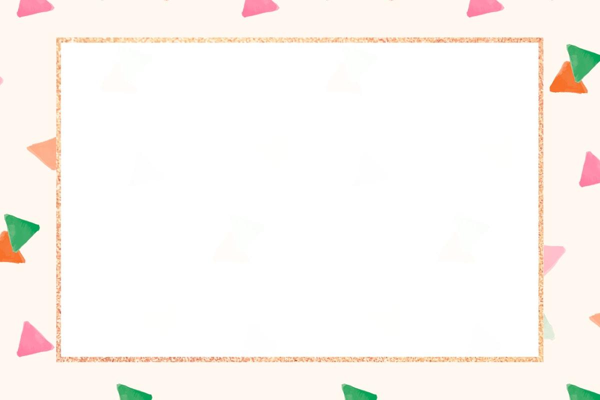 Blank golden frame seamless pattern  design vector