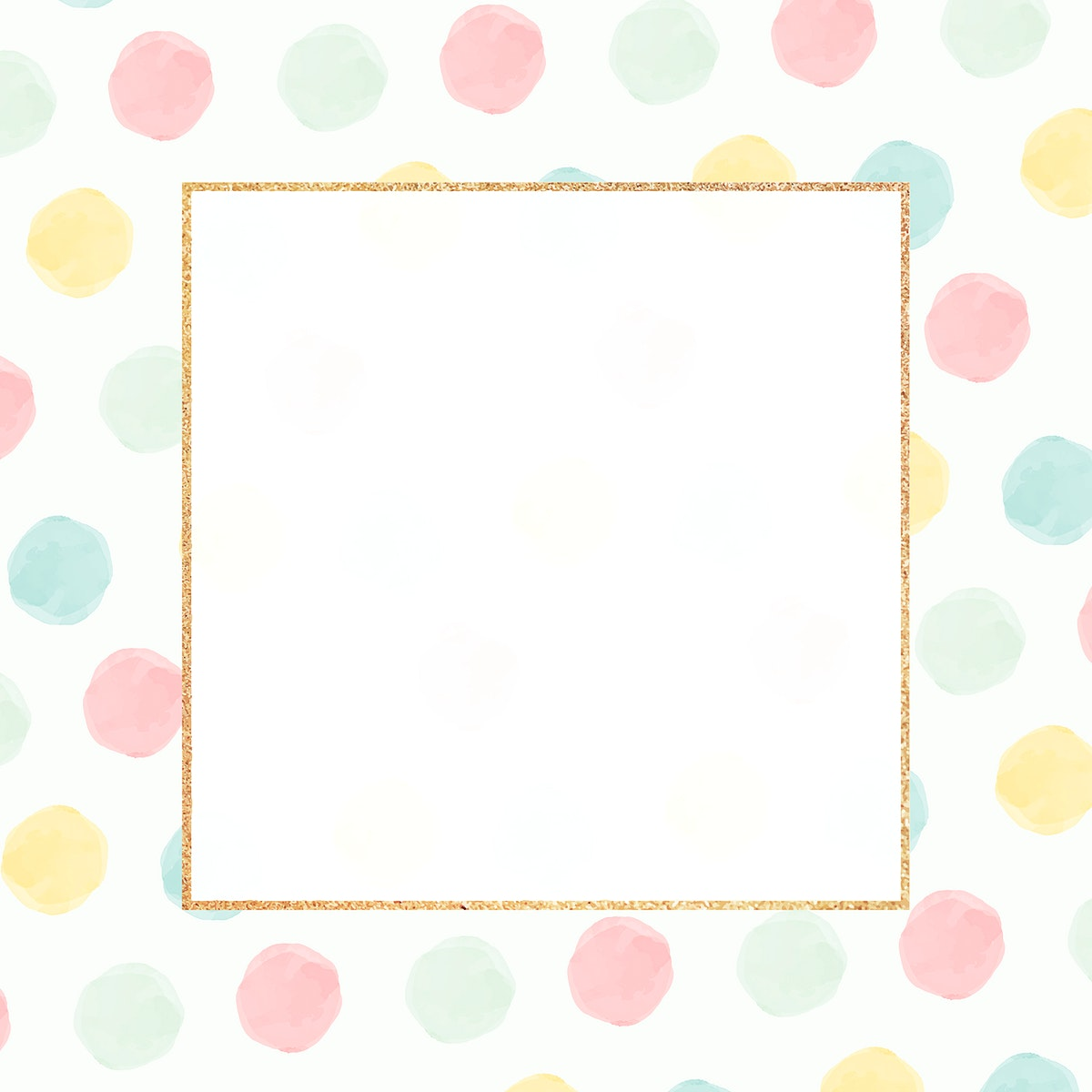 Blank colorful golden frame seamless pattern  vector