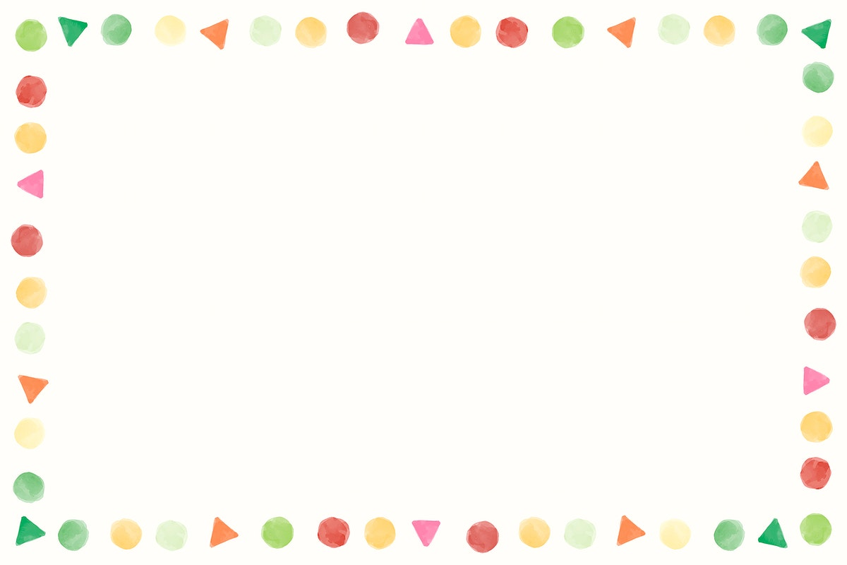 Blank colorful watercolor frame vector