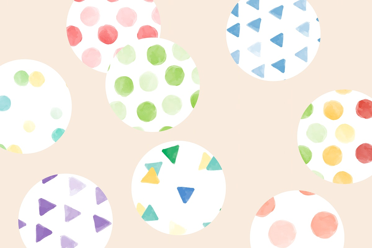 Colorful watercolor circle pattern background vector
