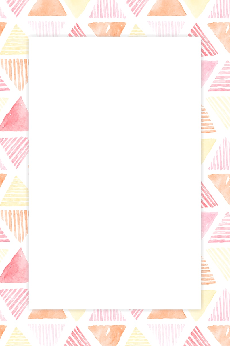 Pink triangle seamless patterned background vector