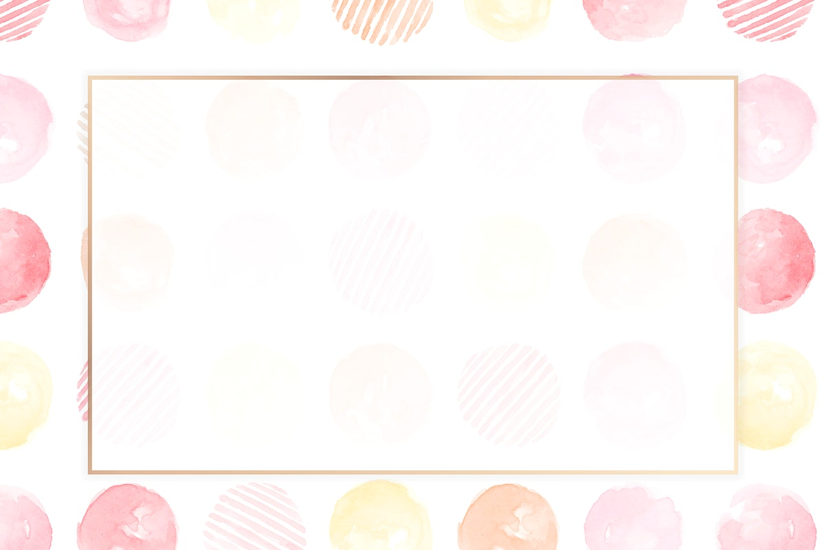 Gold frame with pink circle seamless patterned background vector