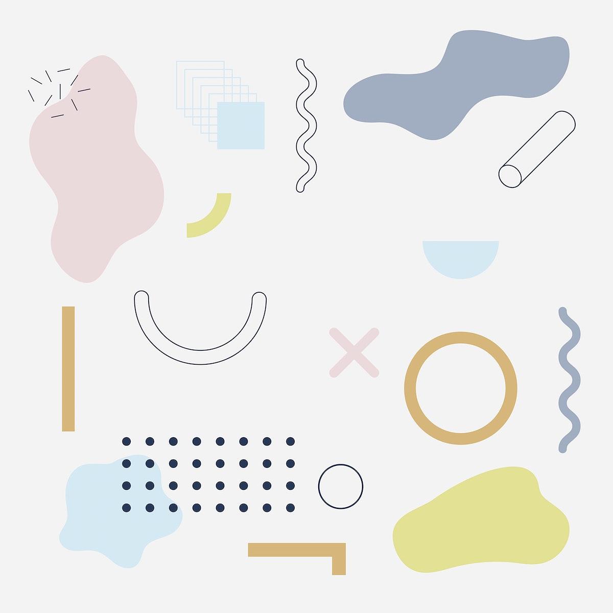 Memphis design element pattern background template vector