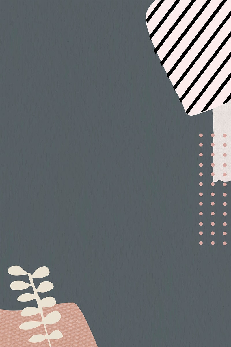 Leaf pattern on gray background vector