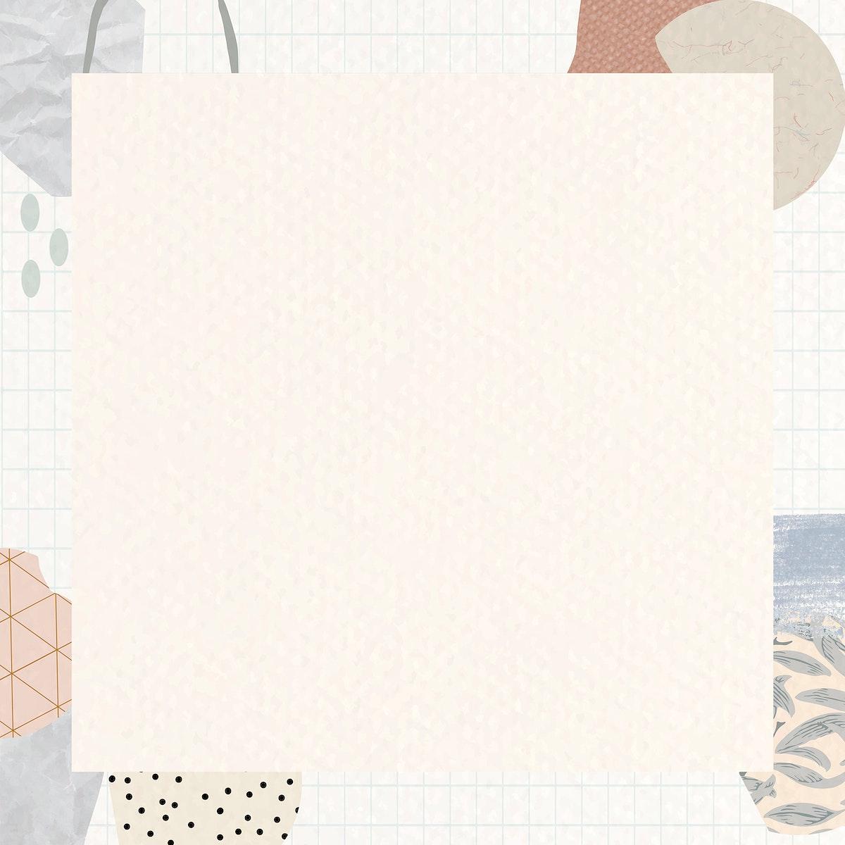 Terrazzo frame on beige background vector