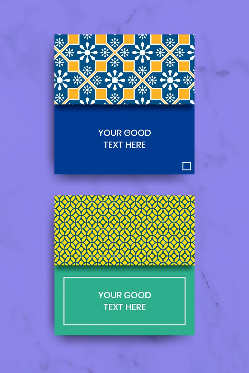 Indian pattern note templates vector set
