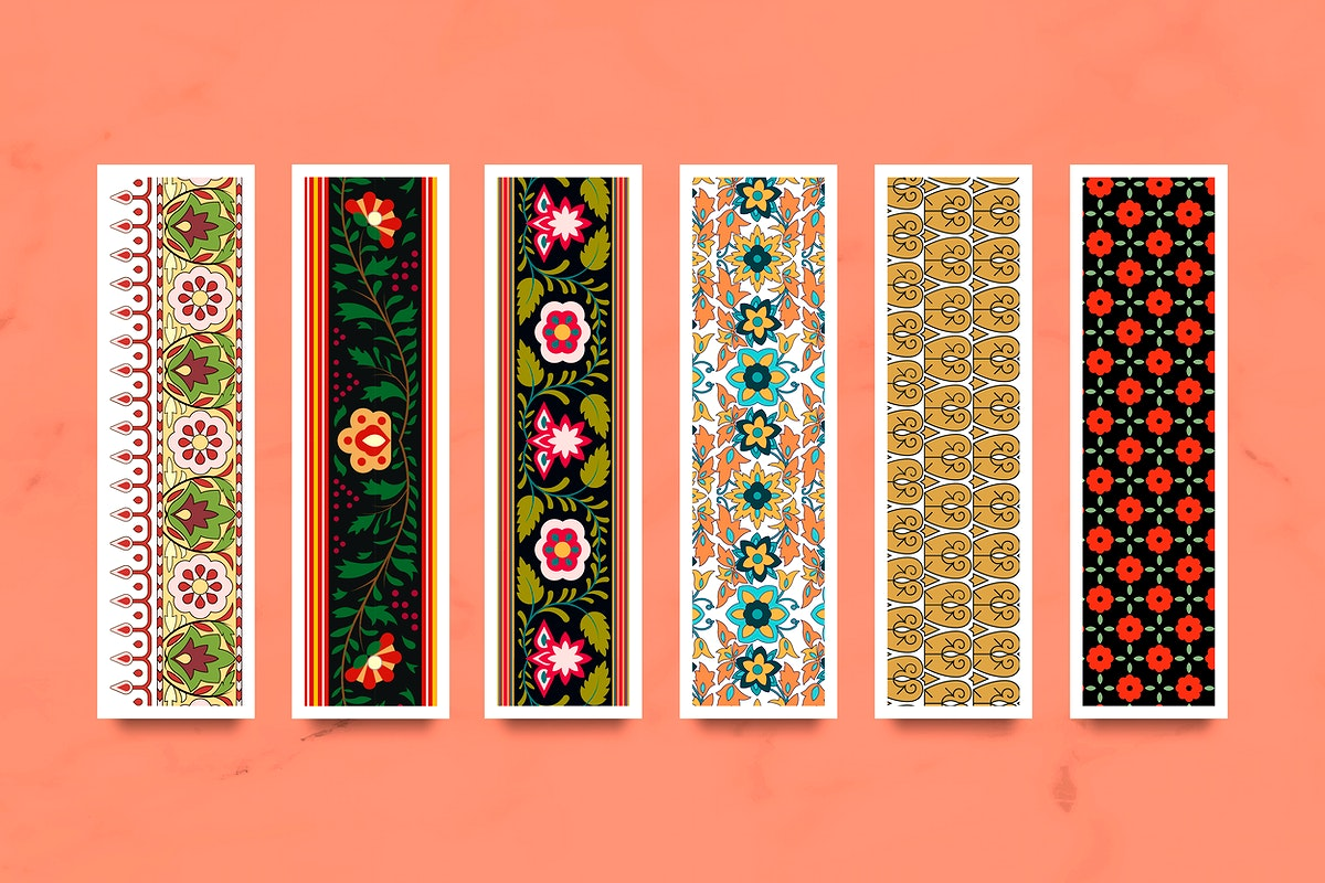Indian seamless pattern banners vector set