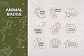 Animal badge design elements vector set