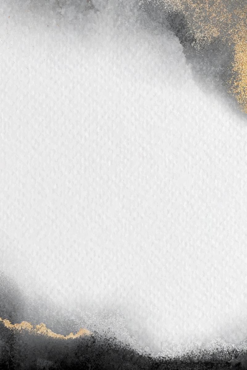 Blank white golden frame vector