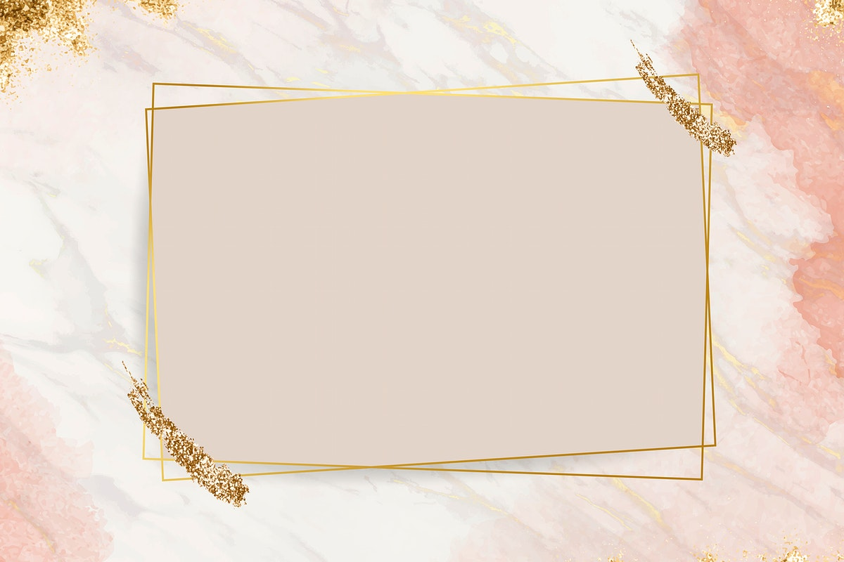 Shimmering golden frame design vector