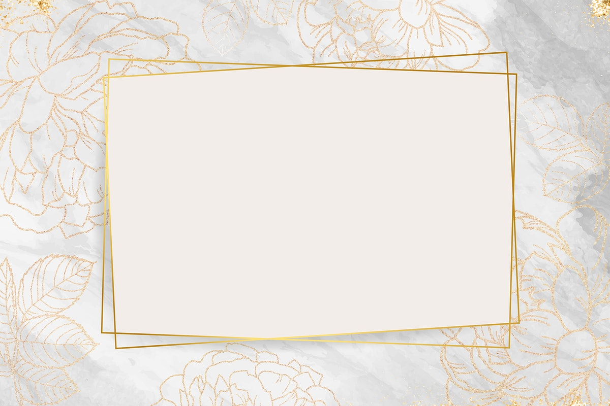 Golden floral frame design vector