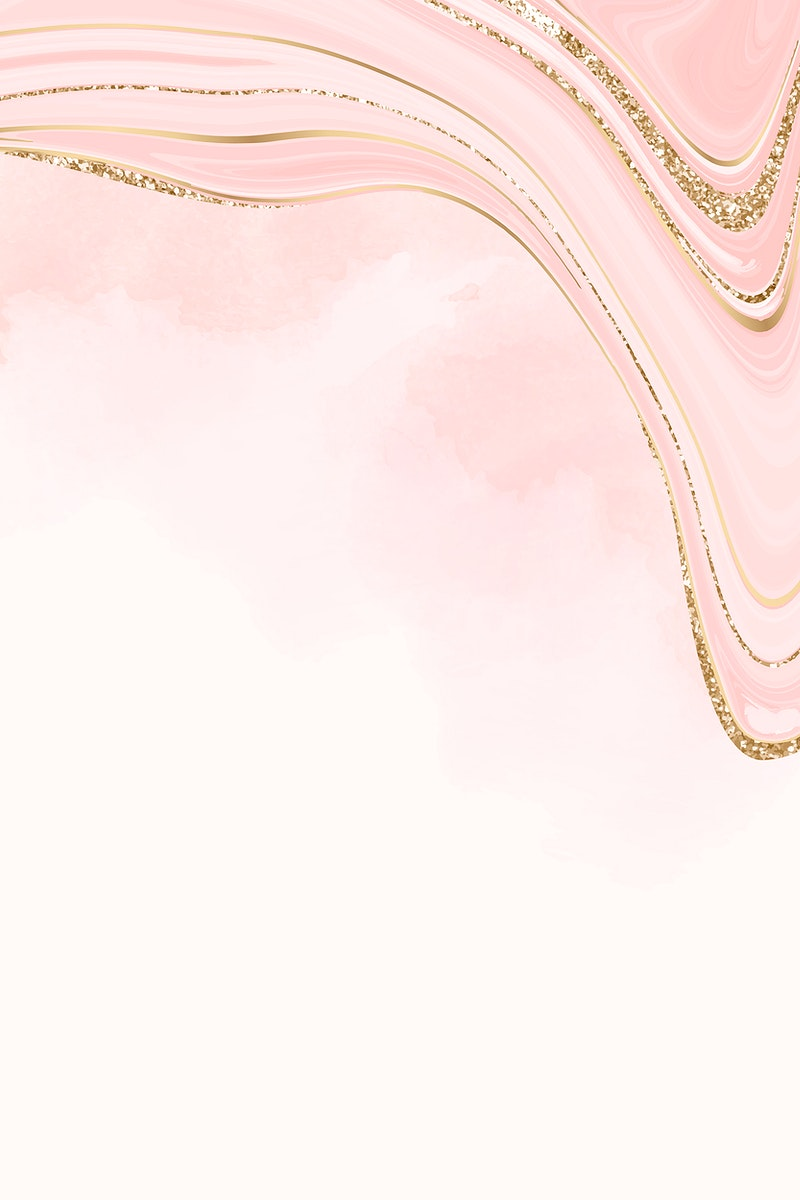 Gold and pink fluid patterned background vector