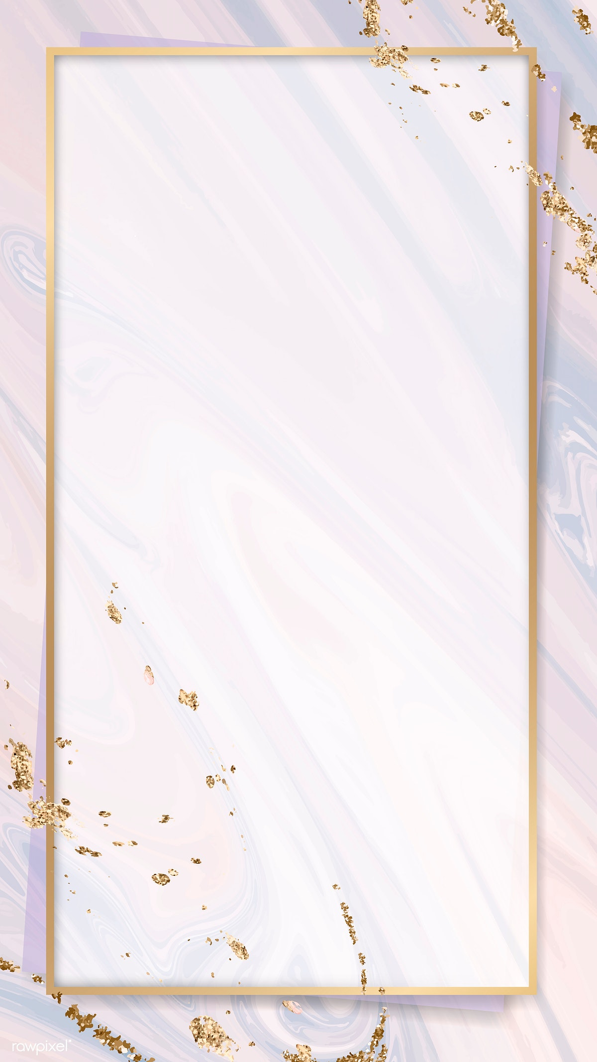 Download premium image of Rectangle gold frame on pink fluid patterned