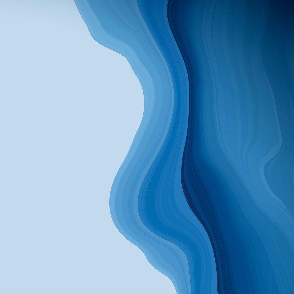 Blue fluid patterned background vector